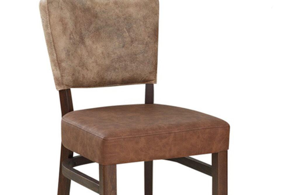 Gastronomie Stuhl aus Microfaser und Holz