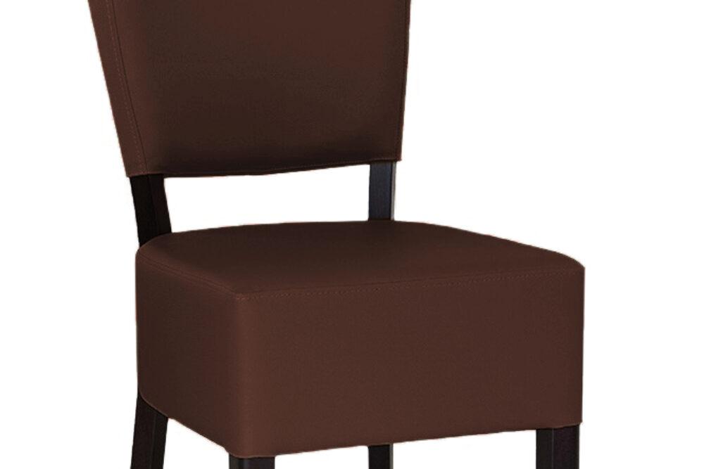 Gastro Stuhl aus Holz und Leder