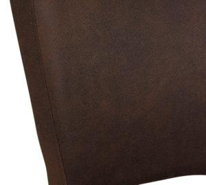 Gastro Stuhl aus Holz und Leder Lehne